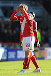 Patrick Bamford of Middlesbrough gestures to the linesman - Middlesbrough vs. Leeds United - Skybet Championship - Riverside Stadium - Middlesbrough - 21/02/2015 Pic Philip Oldham/Sportimage