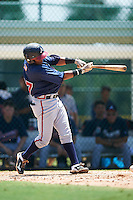 GCL Braves second baseman Luis Mejia (37) at bat during a game against the GCL Pirates on August 10, 2016 at Pirate City in Bradenton, Florida.  GCL Braves defeated the GCL Pirates 5-1.  (Mike Janes/Four Seam Images)