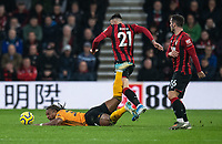 Wolverhampton Wanderers' Adama Traore (left) is fouled by Bournemouth's Diego Rico <br /> <br /> Photographer David Horton/CameraSport<br /> <br /> The Premier League - Bournemouth v Wolverhampton Wanderers - Saturday 23rd November 2019 - Vitality Stadium - Bournemouth<br /> <br /> World Copyright © 2019 CameraSport. All rights reserved. 43 Linden Ave. Countesthorpe. Leicester. England. LE8 5PG - Tel: +44 (0) 116 277 4147 - admin@camerasport.com - www.camerasport.com