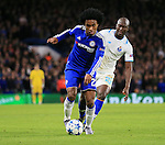 Chelsea's Willina tussles with Porto's Danillo<br /> <br /> UEFA Champions League - Chelsea v FC Porto - Stamford Bridge - England - 9th December 2015 - Picture David Klein/Sportimage