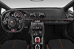 Stock photo of straight dashboard view of 2015 Lamborghini Huracan LP 6104 2 Door Coupe Dashboard