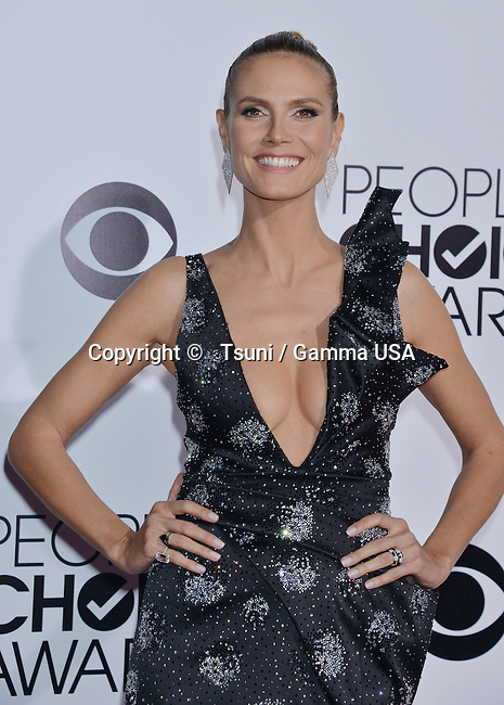 Heidi Klum  People Choice Awards 2014 at the Nokia Theatre in Los Angeles.