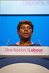 © Joel Goodman - 07973 332324 . No syndication permitted . 25/09/2013 . Brighton , UK . Guest speaker , DOREEN LAWRENCE OBE , addresses the conference this afternoon (Wednesday 25th September 2013) . Day 4 of the Labour Party 's annual conference in Brighton . Photo credit : Joel Goodman