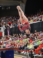 Arkansas' Kennedy Hambrick competes Friday, Feb. 7, 2020, in the vault portion of the Razorbacks' meet with Georgia in Barnhill Arena in Fayetteville. Visit  nwaonline.com/gymbacks/ for a gallery from the meet.<br /> (NWA Democrat-Gazette/Andy Shupe)