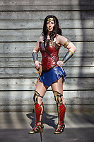 Taylor Bennett as Wonder Woman, Emerald City Comicon, Seattle, Washington, USA.