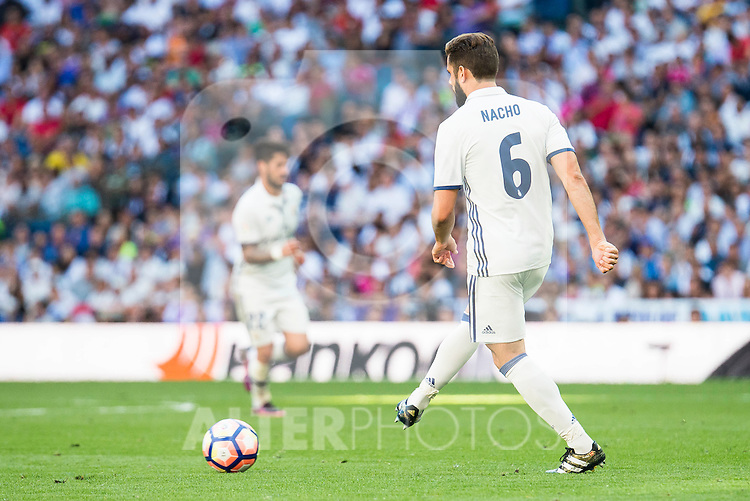Real Madrid's player Nacho Fernandez during a match of La Liga Santander at Santiago Bernabeu Stadium in Madrid. October 02, Spain. 2016. (ALTERPHOTOS/BorjaB.Hojas)