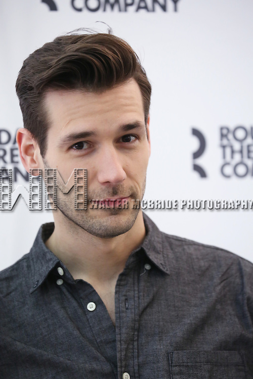 John Behlman attends the cast photo call for 'Significant Other' at the Roundabout Theatre rehearsal hall on April 24, 2015 in New York City.