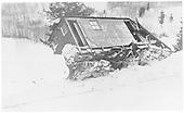 RGS plow-flanger #03 derailed near Stapleton, circa 1925.<br /> RGS  Stapleton, CO  ca 1925