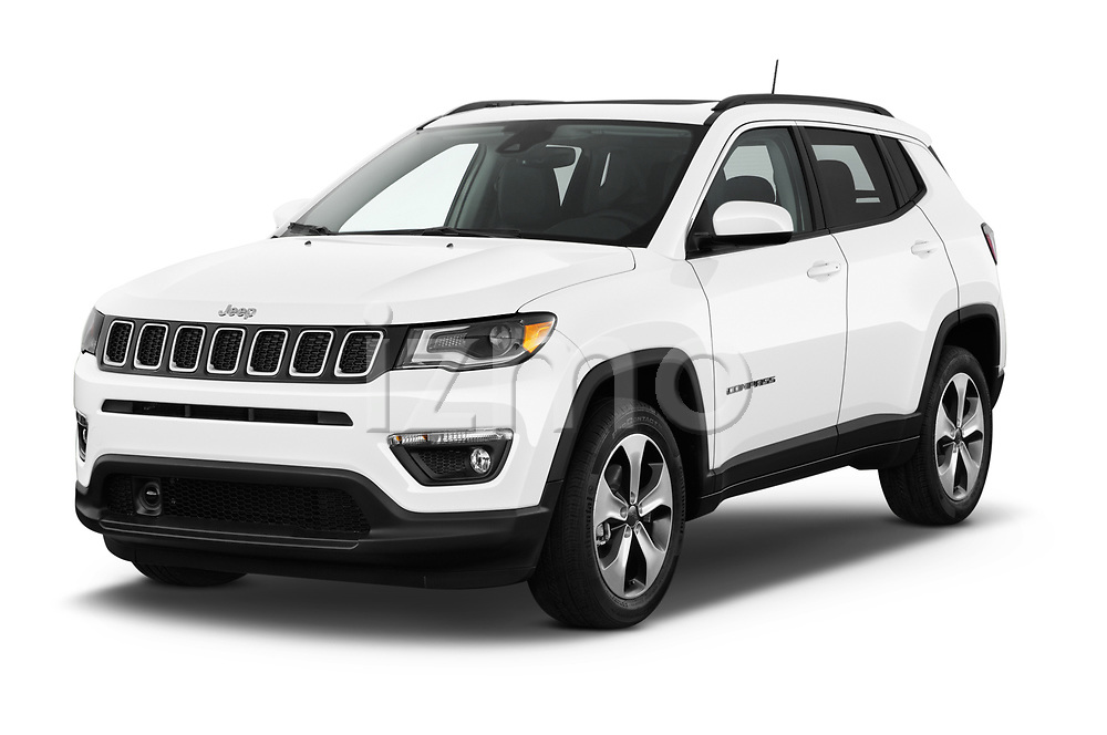 2017 JEEP Compass Latitude 5 Door SUV Angular Front stock photos of front three quarter view