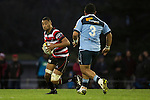Jimmy Tupou looks for options as he makes a run upfield. The game of Three Halves, a pre-season warm-up game between the Counties Manukau Steelers, Northland and the All Blacks, played at ECOLight Stadium, Pukekohe, on Friday August 12th 2016. Photo by Richard Spranger.