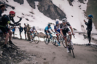 Tom Dumoulin (NED/Sunweb) up the gravel roads of the Colle delle Finestre <br /> <br /> stage 19: Venaria Reale - Bardonecchia (184km)<br /> 101th Giro d'Italia 2018