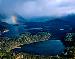 Lake Moreno and El Trebol Lagoon.Nahuel Huapi/National Park, Bariloche, Patagonia, Argentina, South America
