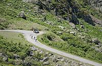 descending/bombing towards Alpe d'Huez<br /> <br /> stage 7: Aoste > Alpe d'Huez (168km)<br /> 69th Critérium du Dauphiné 2017