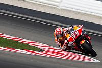 2nd November 2019; Sepang Circuit, Sepang Malaysia; MotoGP Malaysia, Qualifying Day;  The number 93 Repsol Honda Team rider Marc Marquez during practice 3 - Editorial Use