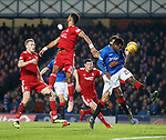 05.12.2018 Rangers v Aberdeen: Lassana Coulibaly misses his header