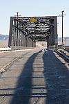 Steel truss street bridge over the rail class yard at Barstow, Calif. (BNSF)