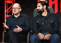 PASADENA, CA - FEBRUARY 4: (L-R) Cast Members Mark Proksch and Kayvan Novak  during the WHAT WE DO IN THE SHADOWS panel for the 2019 FX Networks Television Critics Association Winter Press Tour at The Langham Huntington Hotel on February 4, 2019 in Pasadena, California. (Photo by Frank Micelotta/FX/PictureGroup)