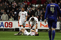 Pictured: Leon Britton (centre) of Swansea City<br />