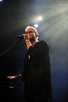 LONDON, ENGLAND - APRIL 11: Nicholas William Petricca of 'Walk The Moon' performing at The Forum on April 11, 2018 in London, England.<br /> CAP/MAR<br /> &copy;MAR/Capital Pictures
