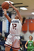 Emma LoPinto #12 of Manhasset shoots from inside the paint during the third quarter of a non-league girls basketball game against Farmingdale at Manhasset High School on Saturday, Dec. 8, 2018. She scored 16 points in Manhasset's 50-33 win.