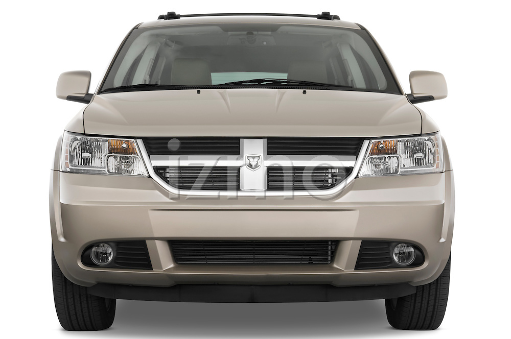 Straight front view of a 2009 Dodge journey rt