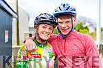 Michella Breen and Sean Lucey at the Currow LGFA road cycle on Sunday.