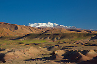 Snow capped Atlas Mountains near Ouazazarte, Morocco