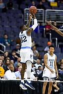 Washington, DC - MAR 10, 2018: Rhode Island Rams guard Jared Terrell (32) shoots three pointer during semi final match up of the Atlantic 10 men's basketball championship between Saint Joseph's and Rhode Island at the Capital One Arena in Washington, DC. (Photo by Phil Peters/Media Images International)