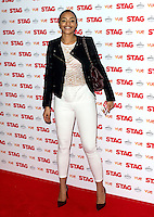 Amal Fashanu arriving for The Stag Premiere at Vue Leicester Square, London. 13/003/2014 Picture by: Dave Norton / Featureflash