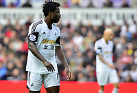 Wilfried Bony.<br /> Saturday 17 August 2013<br /> Pictured: <br /> Re: Barclays Premier League Swansea City v Manchester United at the Liberty Stadium, Swansea, Wales