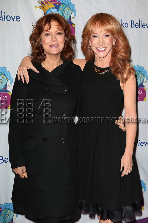 Susan Sarandon and Kathy Griffin attends the 14th Annual 'Only Make Believe' Gala at the Bernard B. Jacobs Theatre on November 4, 2013  in New York City.
