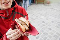 Traditional Regensburg Bratwurst, Regensburg, Germany