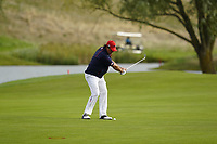 Phil Mickelson (Team USA) on the 15th during the singles matches at the Ryder Cup, Le Golf National, Ile-de-France, France. 30/09/2018.<br /> Picture Fran Caffrey / Golffile.ie<br /> <br /> All photo usage must carry mandatory copyright credit (© Golffile | Fran Caffrey)