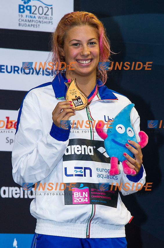 CASTIGLIONI Arianna ITA Bronze Medal<br /> 100m Breaststroke Women Final<br /> 32nd LEN European Championships <br /> Berlin, Germany 2014  Aug.13 th - Aug. 24 th<br /> Day08 - Aug. 20<br /> Photo G. Scala/Deepbluemedia/Inside