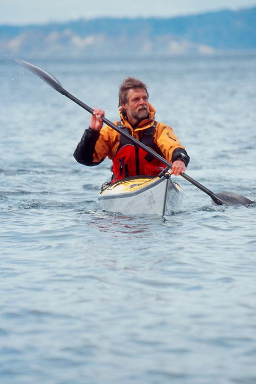 Sea Kayaking, Nigel Foster, Seattle, West Point, Puget Sound, Washington State, Pacific Northwest, Sea kayak designer, instructor, author, extreme distance paddler, flirt, beer drinker, British, etc..