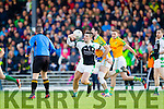 Bryan Sheehan South Kerry in action against Jamie O'Sullivan Legion at the Kerry County Senior Football Final at Fitzgerald Stadium on Sunday.