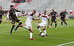nph0001:  17.05.2020 --- Fussball --- Saison 2019 2020 --- 2. Fussball - Bundesliga --- 26. Spieltag: FC Sankt Pauli - 1. FC Nürnberg ---   DFL regulations prohibit any use of photographs as image sequences and/or quasi-video - Only for editorial use ! --- <br /> <br /> Hanno Behrens (18, 1. FC Nürnberg ) Adam Zrelak (11, 1. FC Nürnberg )  <br /> <br /> Foto: Daniel Marr/Zink/Pool//via Kokenge/nordphoto