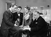 The Maltese Falcon (1941)<br /> Humphrey Bogart, Mary Astor, Sydney Greenstreet &amp; Peter Lorre<br /> *Filmstill - Editorial Use Only*<br /> CAP/KFS<br /> Image supplied by Capital Pictures