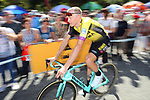 Robert Gesink (NED) Team Jumbo-Visma arrives at sign on before Stage 11 of La Vuelta 2019 running 180km from Saint Palais, France to Urdax-Dantxarinea, Spain. 4th September 2019.<br /> Picture: Luis Angel Gomez/Photogomezsport | Cyclefile<br /> <br /> All photos usage must carry mandatory copyright credit (© Cyclefile | Luis Angel Gomez/Photogomezsport)