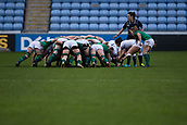 16th March 2018, Ricoh Arena, Coventry, England; Womens Six Nations Rugby, England Women versus Ireland Women; Caity Mattinson of England puts into the scrum