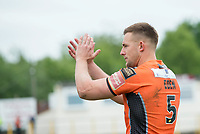 Picture by Allan McKenzie/SWpix.com - 13/05/2017 - Rugby League - Ladbrokes Challenge Cup - Castleford Tigers v St Helens - The Mend A Hose Jungle, Castleford, England - Greg Eden thanks the fans.