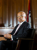 NWA Democrat-Gazette/JASON IVESTER --05/20/2015--<br /> Eddie Walker Jr., attorney; Arkansas Bar Association's first African-American president; photographed on Wednesday, May 20, 2015, inside the Sebastian County Courthouse in Fort Smith for nwprofiles