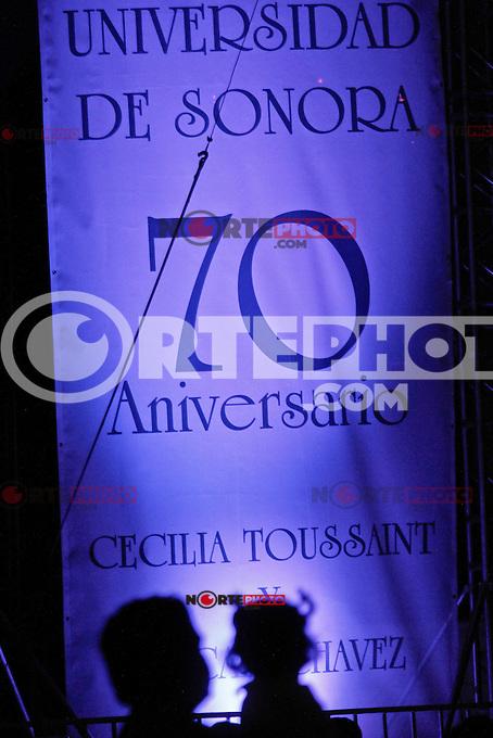 Concierto de Cecilia Toussaint  durante los festejos de 70 años de la Unison en Hermosillo, Sonora, Mex.12.oct.2012..(*Photo:NortePhoto/©Luis.Gutierrez)