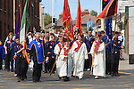 St. Oliver Plunkett Relic Procession 2011 coming down George's Street..Picture: Shane Maguire / www.newsfile.ie.
