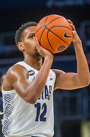 WASHINGTON, DC - JANUARY 28: Terrell Allen #12 of Georgetown at the free throw line during a game between Butler and Georgetown at Capital One Arena on January 28, 2020 in Washington, DC.