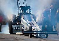 Oct 12, 2019; Concord, NC, USA; NHRA top fuel driver Mike Salinas during qualifying for the Carolina Nationals at zMax Dragway. Mandatory Credit: Mark J. Rebilas-USA TODAY Sports