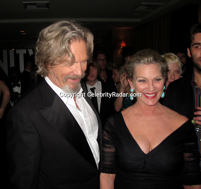 **EXCLUSIVE**.Jeff Bridges and wife Sue Bridges..Vanity Fair Oscar Party..Sunset Tower Hotel..Hollywood, CA, USA..Sunday, March 07, 2010..Photo By CelebrityRadar.com.To license this image please call (212) 410 5354; or Email: CelebrityRadar10@gmail.com ; .website: www.CelebrityRadar.com.