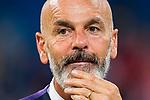 Manager Stefano Pioli of ACF Fiorentina reacts after the Santiago Bernabeu Trophy 2017 match between Real Madrid and ACF Fiorentina at the Santiago Bernabeu Stadium on 23 August 2017 in Madrid, Spain. Photo by Diego Gonzalez / Power Sport Images