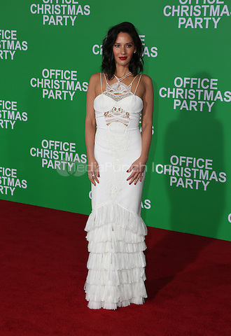 WESTWOOD, CA - DECEMBER 07: Olivia Munn arrives at the premiere of Paramount Pictures' 'Office Christmas Party' at Regency Village Theatre on December 7, 2016 in Westwood, California.  (Credit: Parisa Afsahi/MediaPunch).