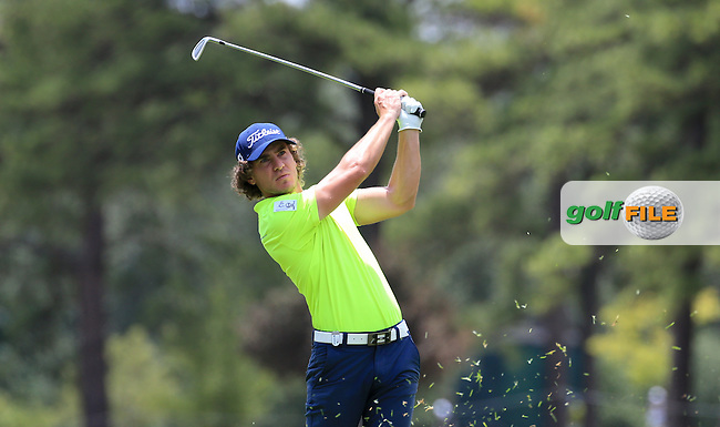 Clement Berardo (FRA) in action during Round Three of the 2016 BMW SA Open hosted by City of Ekurhuleni, played at the Glendower Golf Club, Gauteng, Johannesburg, South Africa.  09/01/2016. Picture: Golffile | David Lloyd<br /> <br /> All photos usage must carry mandatory copyright credit (&copy; Golffile | David Lloyd)
